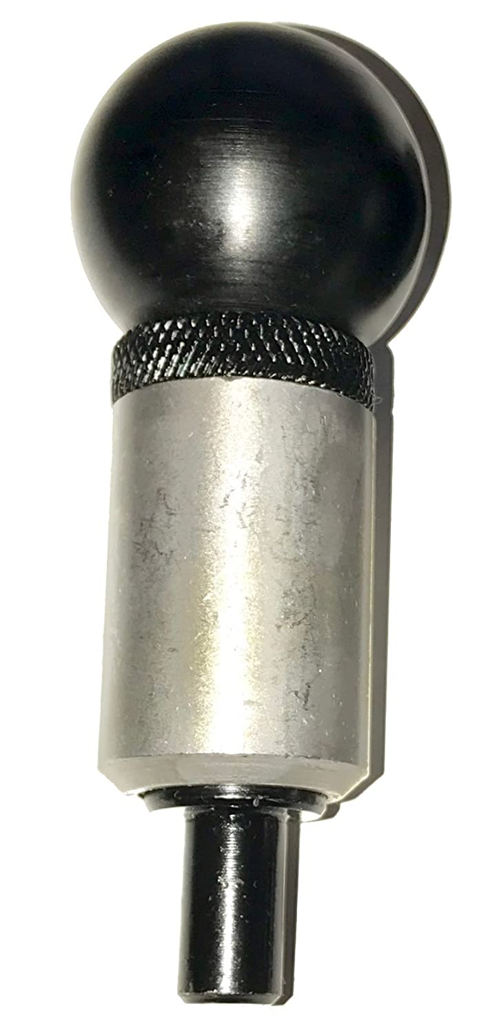 SBDs Qty 1 3 8 Diameter Plunger 'POP' Pull Pin 1 Diameter x 1 1 2 Length Weld ON Steel Barrel | Spring Loaded Zinc Plated Steel Plunger | Plastic ROUND Knob | Knurled Lock Nut.