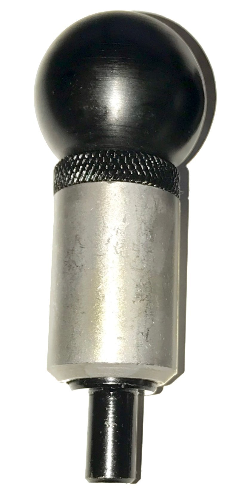SBDs (Qty 4) 3/8'' Diameter) 'POP' Pull Pin 1'' Diameter x 1-1/2'' Length Weld ON Steel Barrel | Spring Loaded Zinc Plated Steel Plunger | Plastic Round Knob | Knurled Lock Nut.