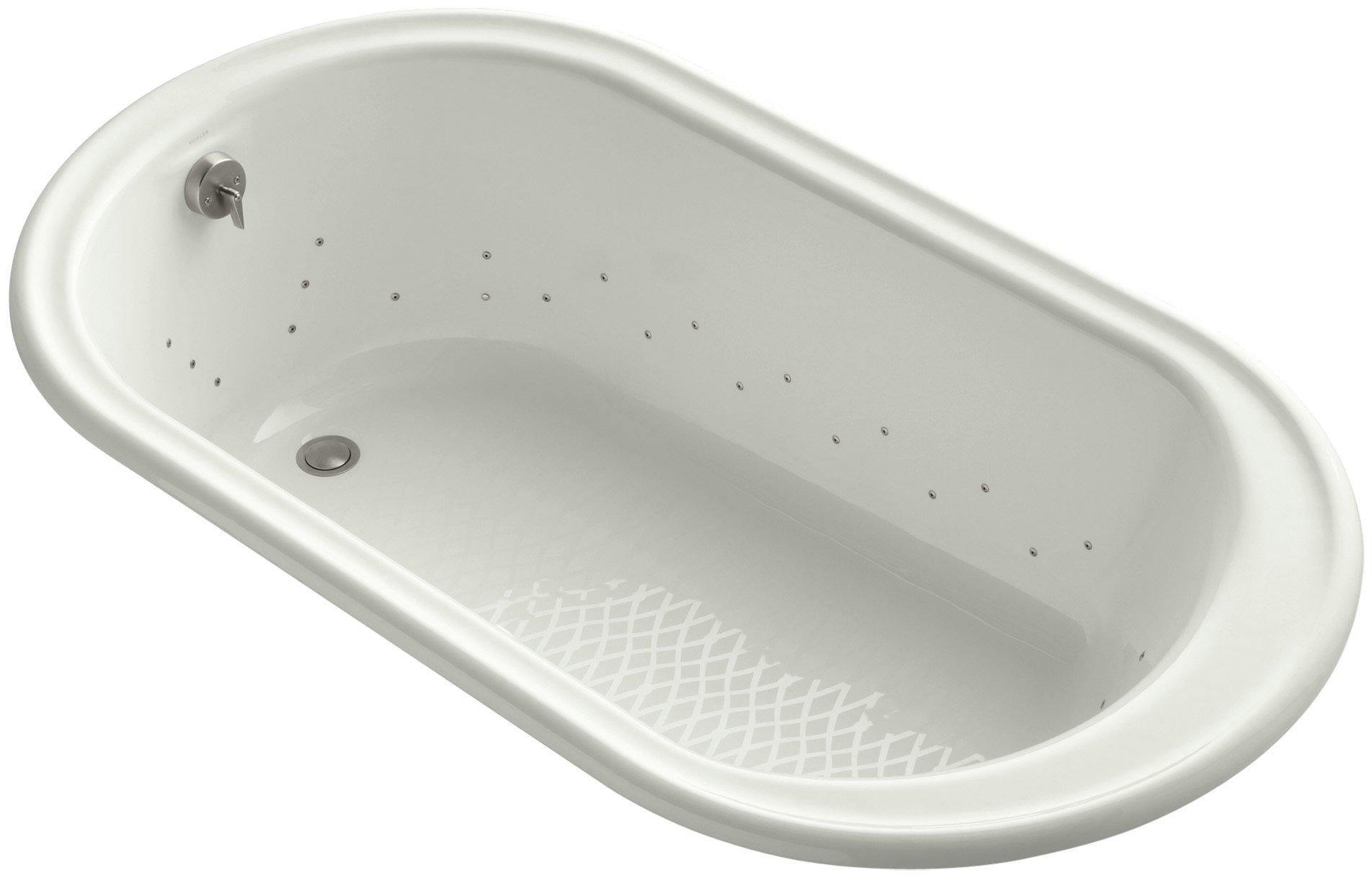 Kohler K-712-GBN-NY Iron Works Bubblemassage 5.5Ft Bath with Vibrant Brushed Nickel Airjet Color, Dune