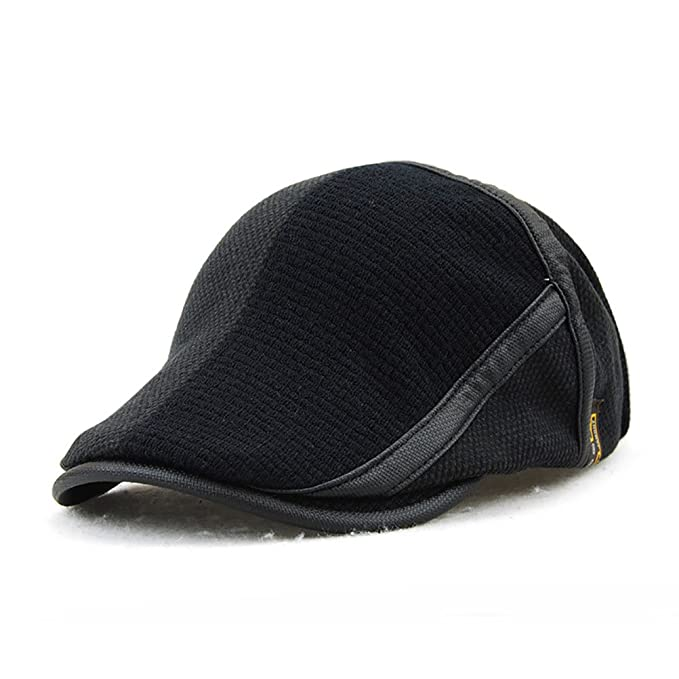 c7398b88deb0e Image Unavailable. Image not available for. Color  Gudessly Men s Knitted Wool  Cabbie Driving Duckbill Hat Warm Newsboy Flat Scally Cap