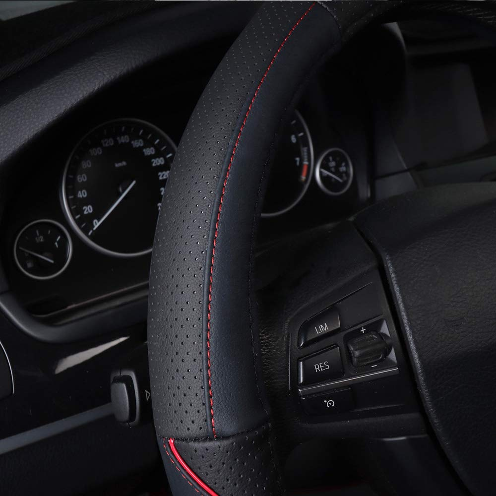 Auto Lenkrad Abdeckung Auto Griff Abdeckung Automotive Zubeh/ör Fahrzeug f/ür Duster Sandero stepway 2 Lodgy Logan 2 Dokker
