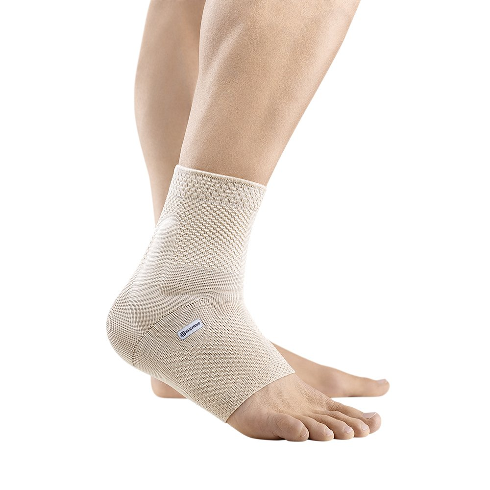 Bauerfeind - MalleoTrain - Ankle Support Brace - Helps Stabilize the Ankle Muscles and Joints For Injury Healing and Pain Relief - Left Foot - Size 5 - Color Nature