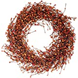 The Wreath Depot Weston Fall Berry Wreath, 22 Inches