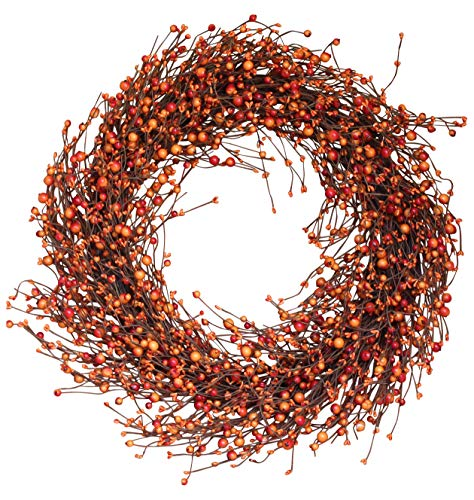Weston Fall Berry Wreath 22 Inches - Enhances Front Door Decor with Designer Quality, Approved for Covered Outdoor Use, Beautiful White Gift Box (Fall Door Wreaths)