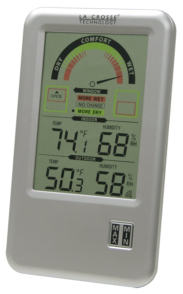 La Crosse Technology WS-9170U-IT  Comfort Meter with In/Out Temperature & Humidity by La Crosse Technology
