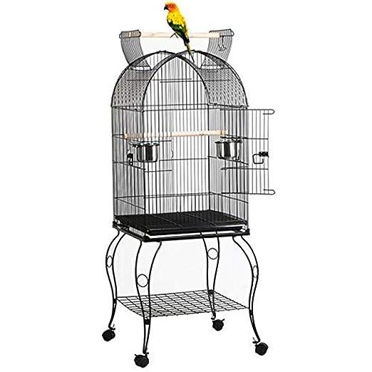 WXH Dome Bird Cage Diseño de Jaula Superior Abierta con Soporte ...