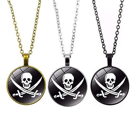 mejor autentico 3340d 6a74b Toyvian 3pcs Collar de Calavera Pirata Collar Personalizado ...