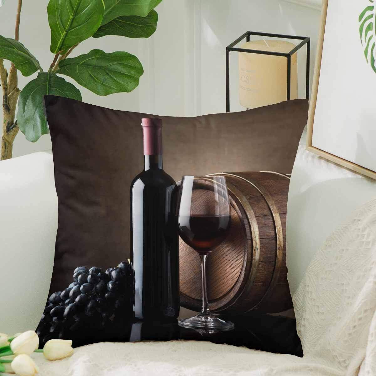 Kinhevao Divertidas Uvas de Botella de Vino Tinto y cojín ...