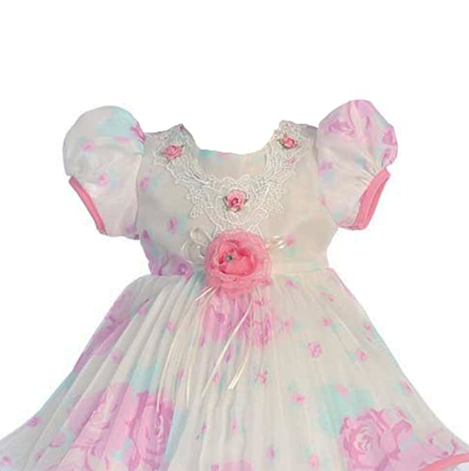 ec2dee3db Amazon.com  StylesILove Vintage Floral Pleated Baby Girl Dress ...