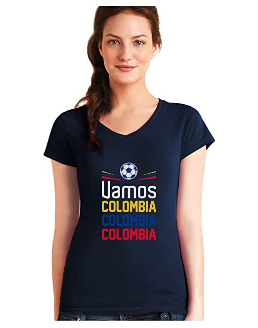 Green Turtle T-Shirts Camiseta de Cuello V para Mujer - Apoyemos a la Selección