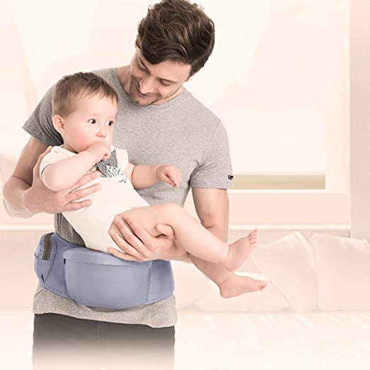 Minetom Baby H/üftsitz Neugeborenes Taille Hocker 4 Tragepositionen Multifunktional Babytrage f/ür Kinder 0-36 Monate