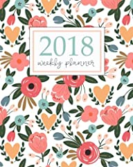 Our new 2018 Planner is finally here! This beautiful planner is printed on high quality interior stock with a gorgeous floral cover. Each monthly spread (January through December 2018) contains an overview of the month, a notes section, inspi...