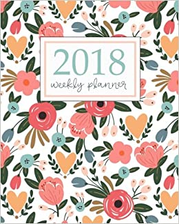 2018 Planner Weekly And Monthly Calendar Schedule Organizer And Journal Notebook With