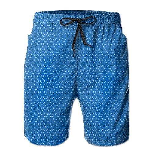 Disaeq Misty Dolphin Breathable Men's Leisure Swimming Pants Pant Beach Pants Short Pants Cool Pants Short Pant Home Pants (Juice Organics Acne)