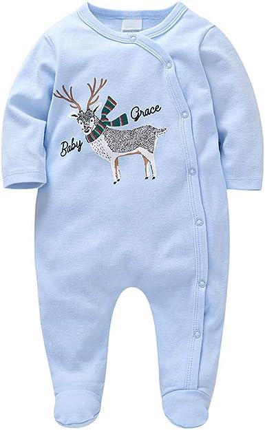 Bebé Pijama Mamelucos Algodón Niñas Niños Peleles Manga Larga Monos Sleepsuit Ropa Trajes 0-12 Meses: Amazon.es: Ropa y accesorios