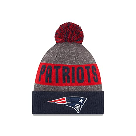 New Era Men s New England Patriots 2016 Sideline Sport Knit Hat Heather  Blue Size One Size 45cf0fa088ed
