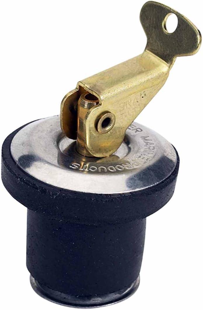 """Boat Bait Well Adjustable Plug neoprene 3//4/"""" Snap Lock"""