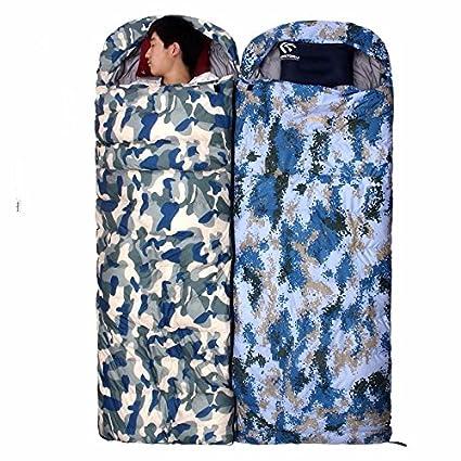 SUHAGN Saco de dormir Otoño Invierno Al Aire Libre Bolsa De Dormir De Pluma Silvestre Adulto