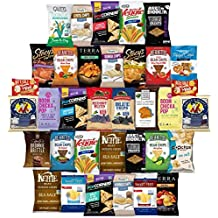Healthy Chips Care Package Variety Pack Bulk Sampler Includes Simply 7, Kettle, Baked in Brooklyn, Beanitos, Smart Fries, Terra, Popcorners, Boom Chicka Pop, Food Should Taste Good & More (35 Count)