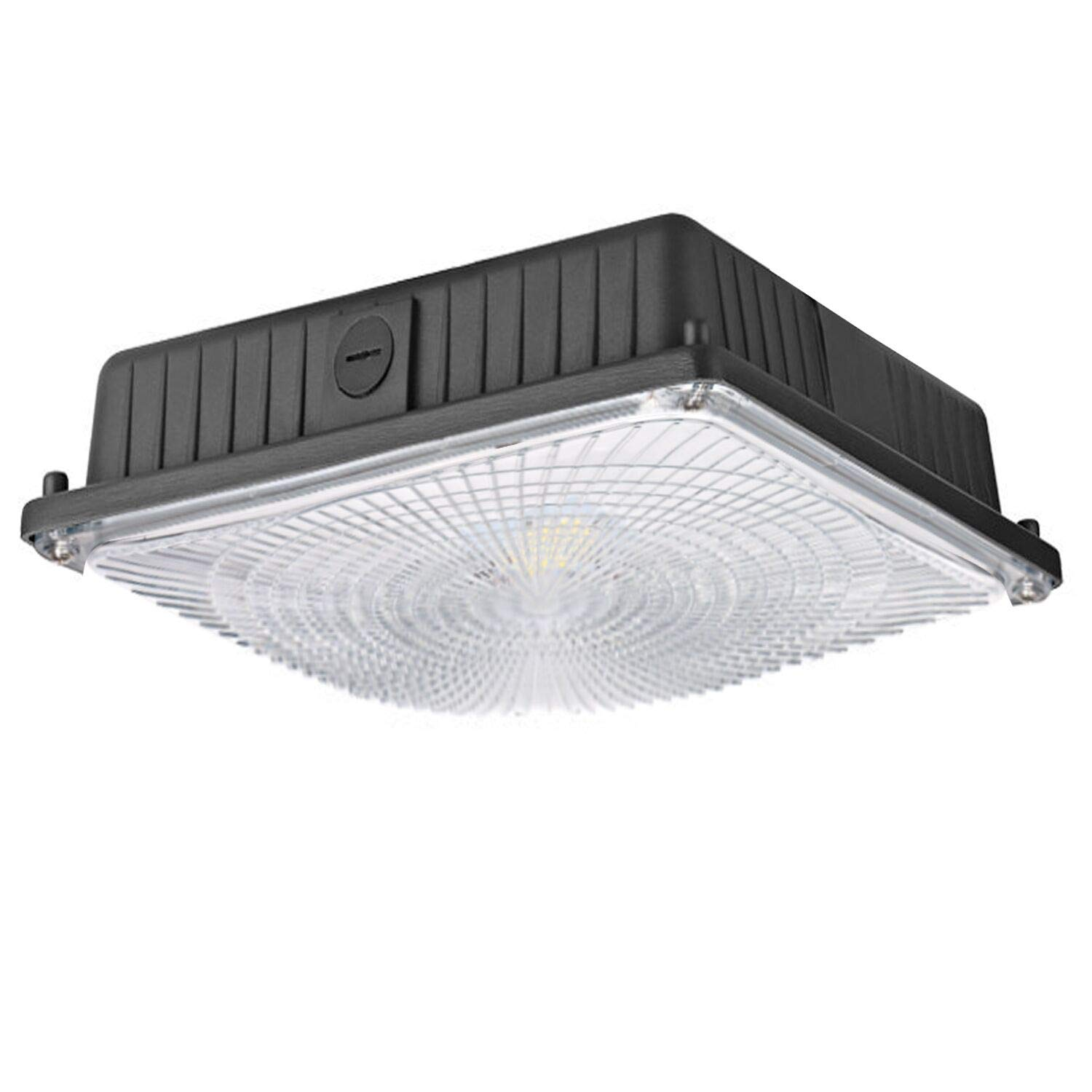 Hykolity 65W LED Canopy Light, 7800lm 5000K, 0-10V Dimmable, 300W-350W MH/HPS/HID Replacement, 100-277VAC, Wet Rated Outdoor Low Bay, Balcony Carport Driveway Ceiling Light, DLC Listed