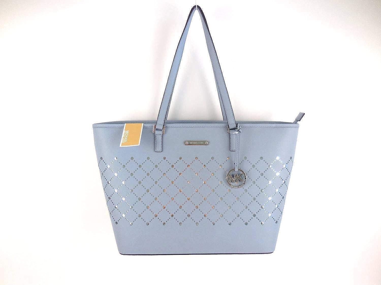 5933d7b1021 Michael Kors Violet Large Carryall Leather Tote Pale Blue  Handbags   Amazon.com
