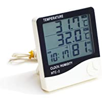 Digital Thermometer, Digital Indoor Hygrometer Humidity Monitor with Alarm Clock, Humidity Temperature Smart Sensor Used…