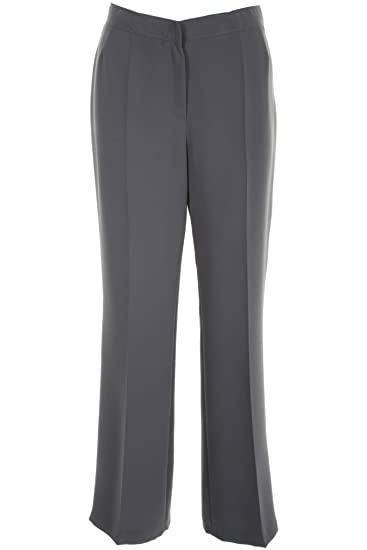 a2a58f179 Busy Clothing Women Smart Trousers Grey: Amazon.co.uk: Clothing