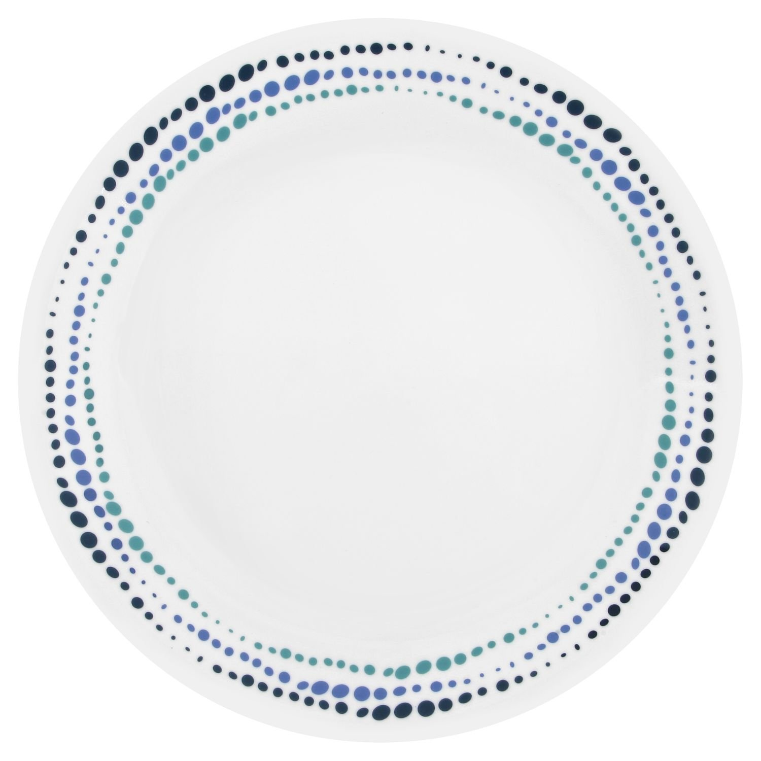 Corelle Livingware Ocean Blues 10.25'' Dinner Plate (Set of 8)