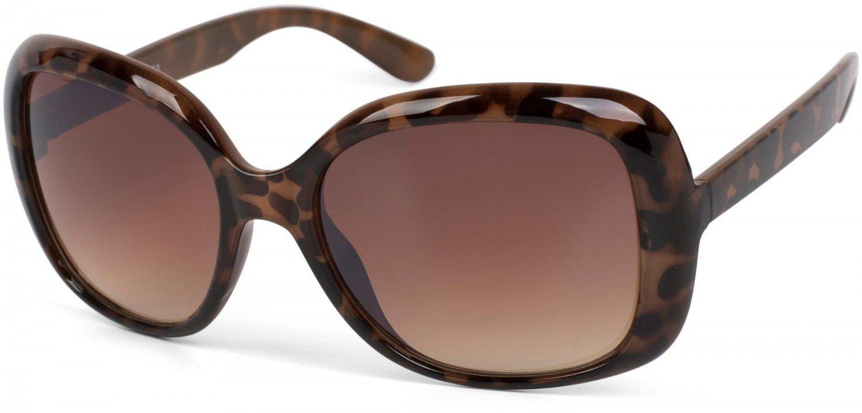 Sonnenbrille in Schmetterling Form, schmale und lange Bügel, Verlaufsglas, Damen