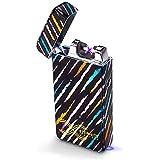 SHUNING USB Lighter, Windproof Flameless Lighter,Double Arc Electronic Lighter, Usb Rechargeable, Cigarette Lighter