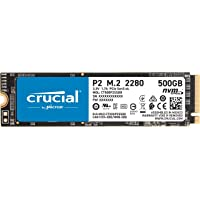Deals on Crucial P2 500GB 3D NAND NVMe PCIe M.2 SSD
