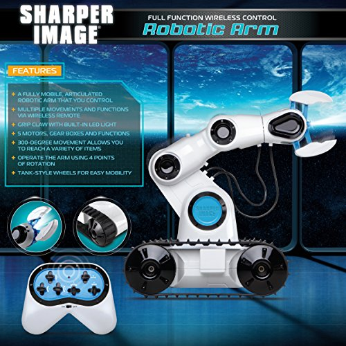 Sharper Image Full Function Wireless Control Robotic Arm Toy with Built-in LED Spotlight Jumbo Claw Grip & Tank Tread Wheels, 2.4GHz Long Range Battery-Operated RC, Best STEM Gift for Boys & Girls by Sharper Image (Image #2)