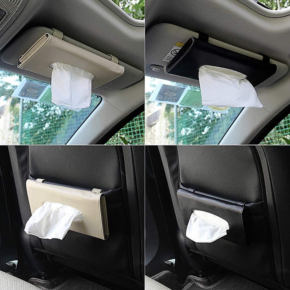 Aufbewahrungsbeh/älter Kuizhiren1 Papiertaschentuchbox Kunstleder Schwarz Schwarz 23 x 13 cm