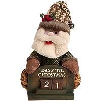 Fdit Papá Noel Calendario de Navidad Escritorio