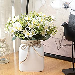 Telisii Artificial Flowers 4 PCS Artificial Oil Painting Narcissus Wedding Bouquet Simulation Flower Plant Home Wedding Decoration Garden Decor Handicraft Gift 5