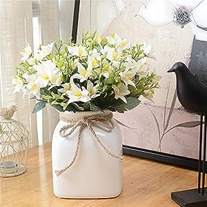 Telisii Artificial Flowers 4 PCS Artificial Oil Painting Narcissus Wedding Bouquet Simulation Flower Plant Home Wedding Decoration Garden Decor Handicraft Gift 91