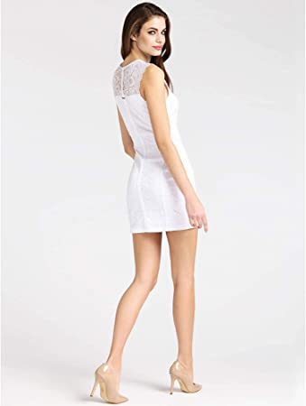 Guess Robe Dentelle Femme ELGA W91K81 Blanc W91K81