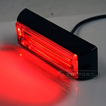 High Power 20W COB LED Emergency Hazard Warning Flash Strobe Beacon Light Bar