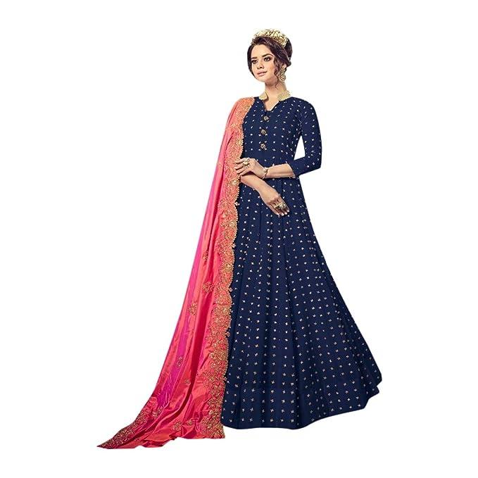 Amazon.com: Anarkali - Traje de algodón puro para ropa ...