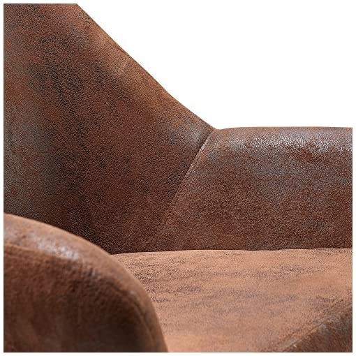 Farmhouse Accent Chairs Versanora Divano Stylish Arm Accent Chair | Aged Fabric Brown farmhouse accent chairs