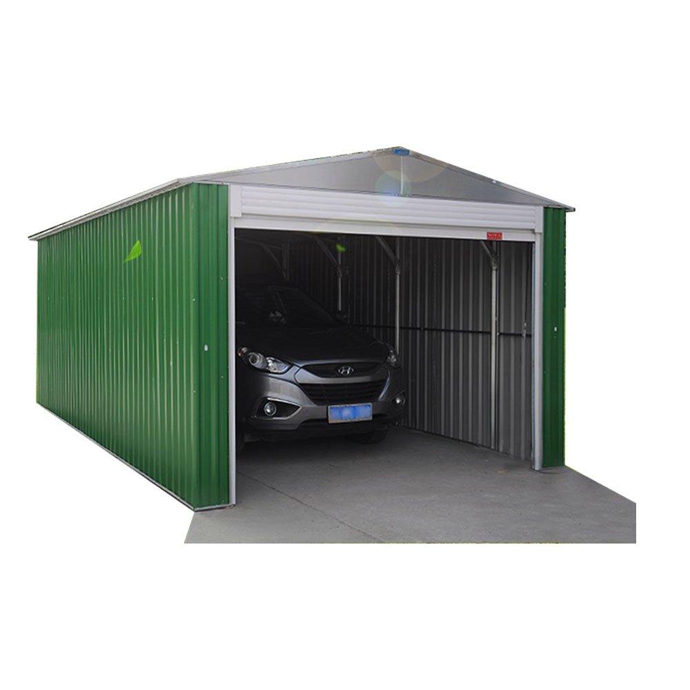 Weizhengheng CG01 light Steel Metal Car Garage with Double Sliding Door