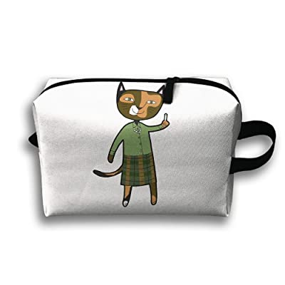 Storage Bag Travel Pouch Cat Teacher Chalk Purse Organizer Power Bank Data Wire Cosmetic Stationery Holder