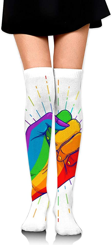 best gift Rainbow Colored Hand With A Fist Raised Up. Gay ...