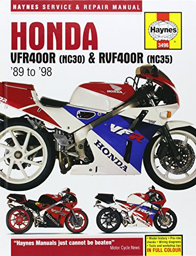 Honda VFR400 and RVF400 V-fours, 1989-97 (Haynes Service and Repair Manuals)