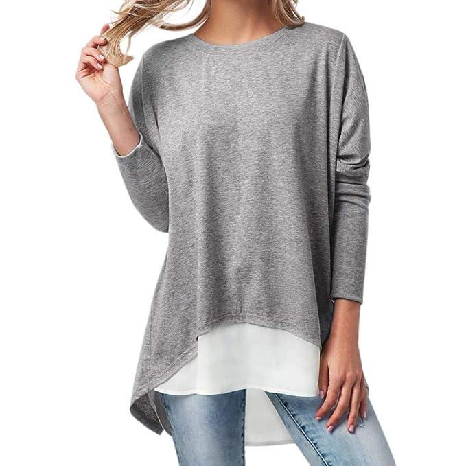 Blusa Mujer, BBestseller Camisas Mujeres Ocasionales Pulóver Camisas Tapas 2 PCS de Moda para Mujer