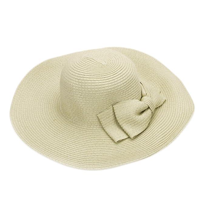 Un elegante señoras niñas sombrero de paja sol visera playa de ala ...