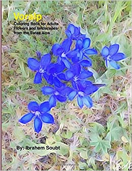 Voralp Coloring Book For Adults Flowers And Landscapes From The Swiss Alps Dr Ibrahem Soubt 9781533673084 Amazon Books