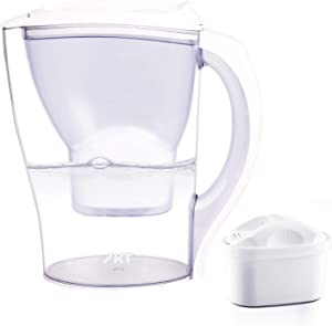 IKT Water Filter Pitchers for Drinking Water,Food Grade,BPA Free,Compact Design 10 Cups, Lower More Than 200 Kinds of Unhealthy substances