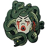 The Bleeding Medusa Embroidered Badge Iron On Sew On Patch