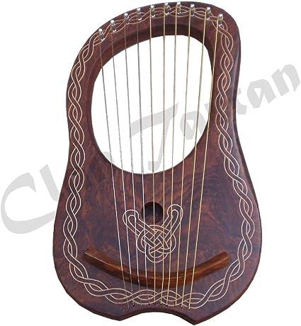 Lyra – Arpa 10 cuerdas de metal grabada a mano/LIRA (Arpa varios ...